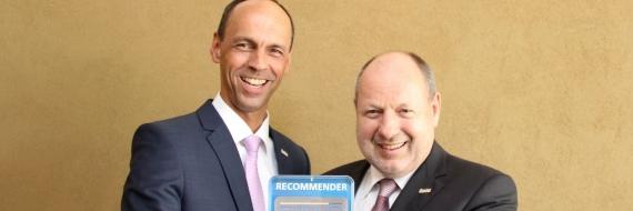 Vorstand TIROLER VERSICHERUNG Recommender Award 2017